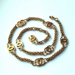1985 Gucci Gold plated chain belt and/or necklace